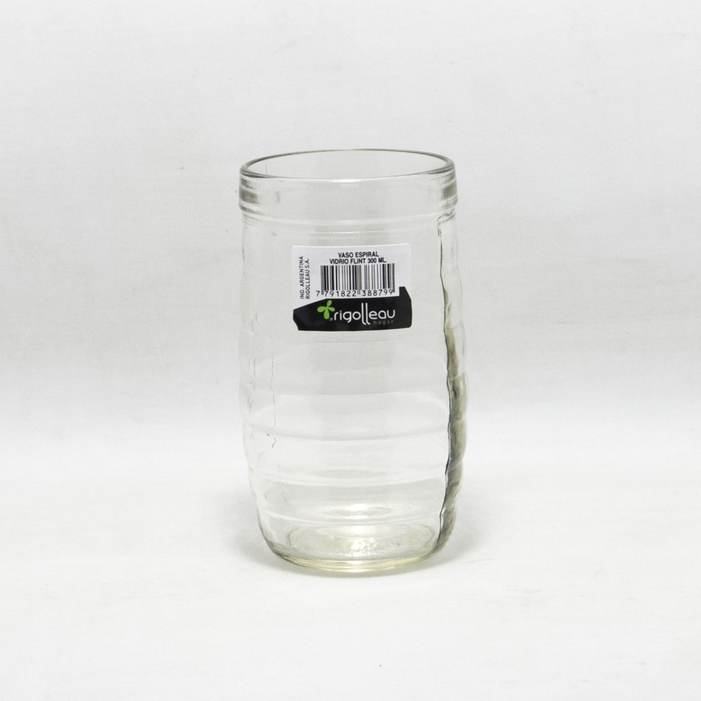 Vaso vidrio espiral  270 ml Rigolleau x 38 unidades