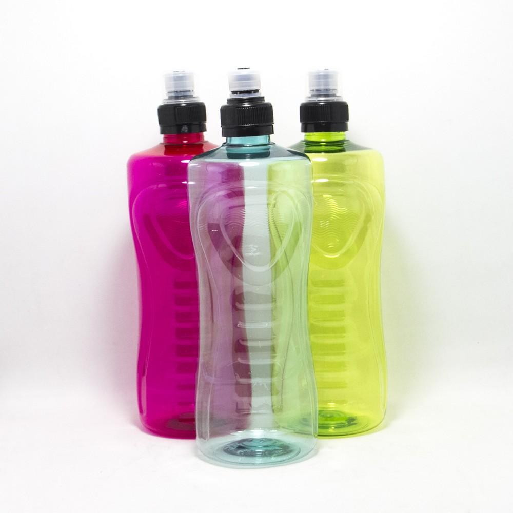 Botella de agua C/Tapa V/colores