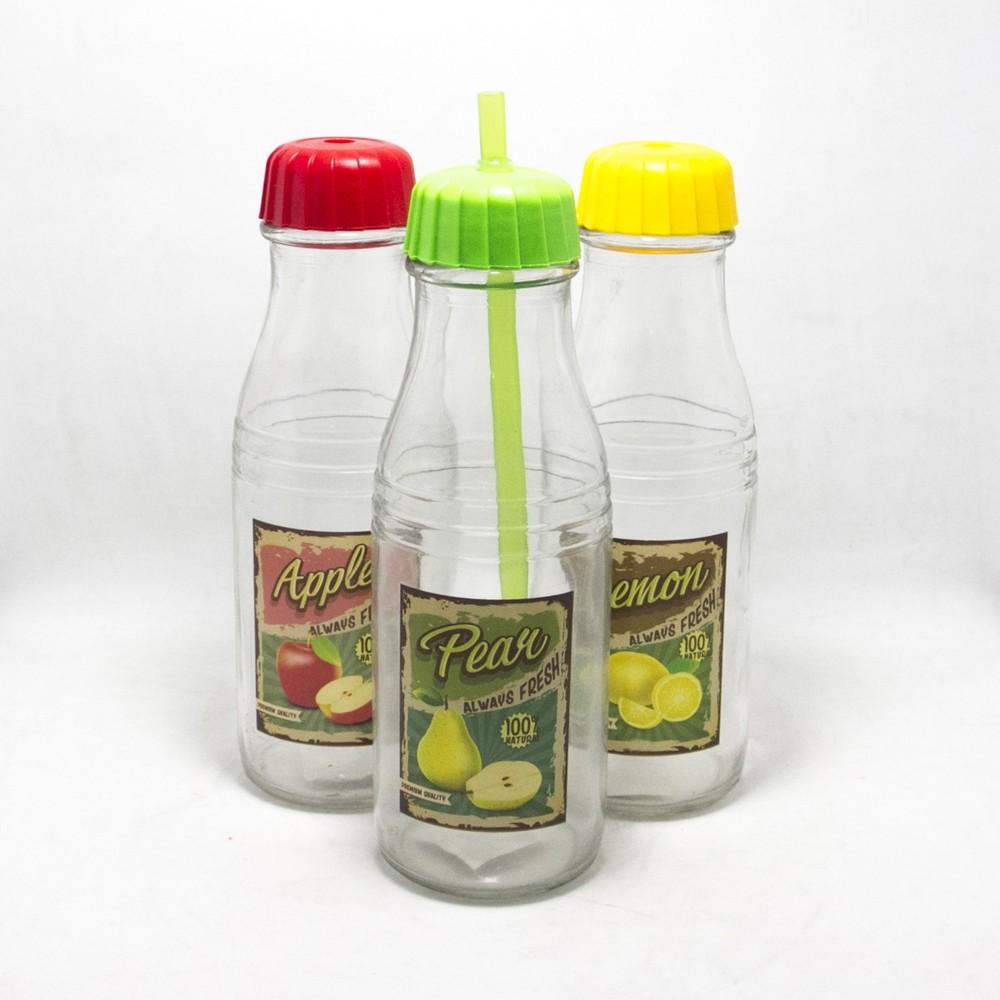 Botella C/Tapa+Sorbete 21Cm