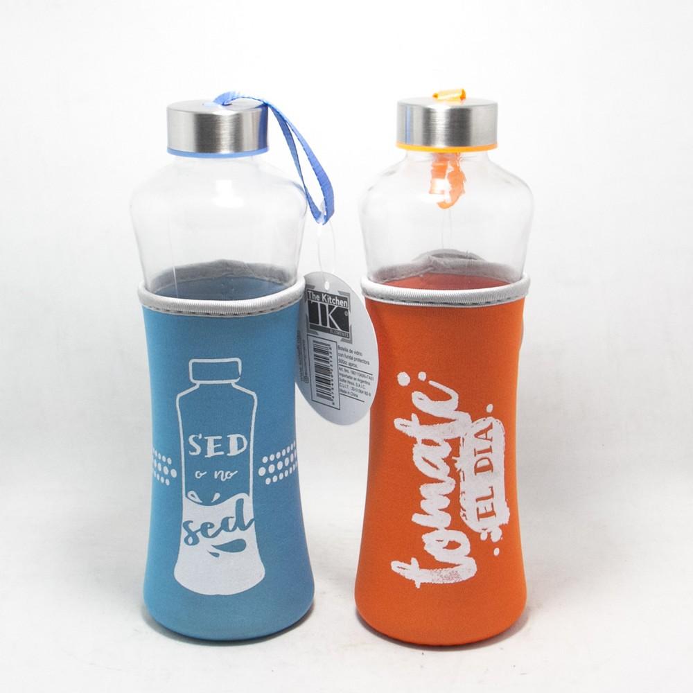 Botella vidrio 500cc C/Funda