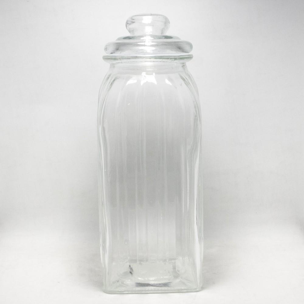 Frasco vidrio grande con tapa vidrio