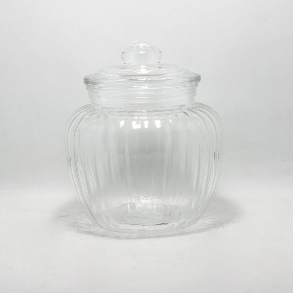 Frasco de vidrio Mil Rayas 1250ML C/TAPA