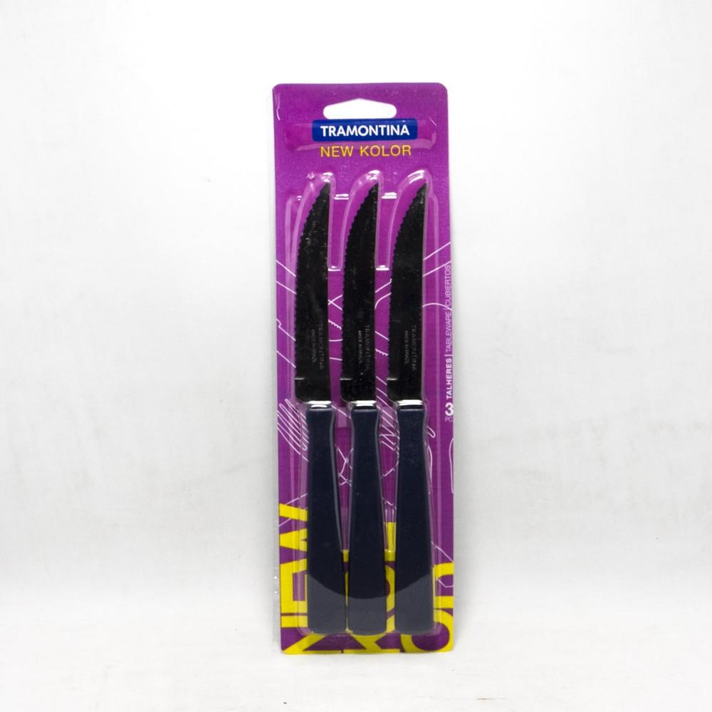 Cuchillo x3 mango plastico tramontina