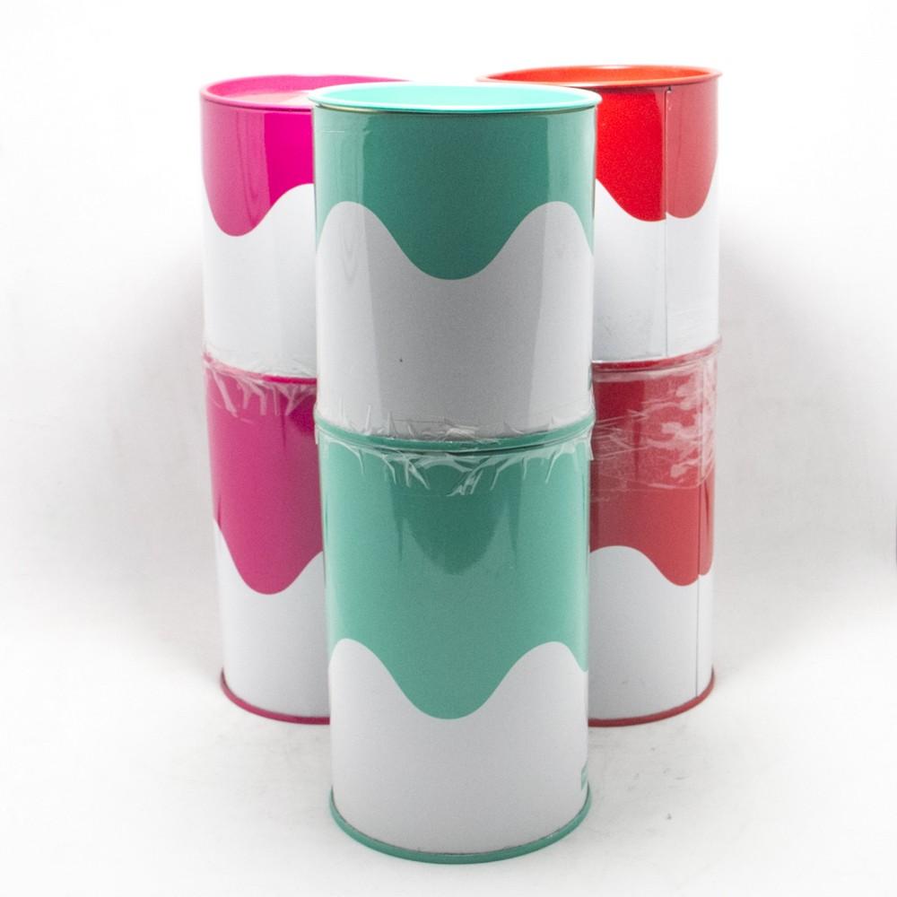 Set azucarera + yerbera lata estampada