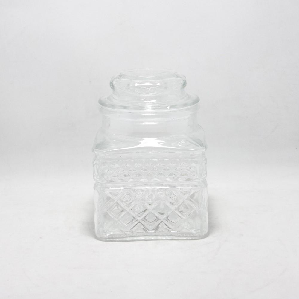 Frasco vidrio labrado 750Ml C/Tapa