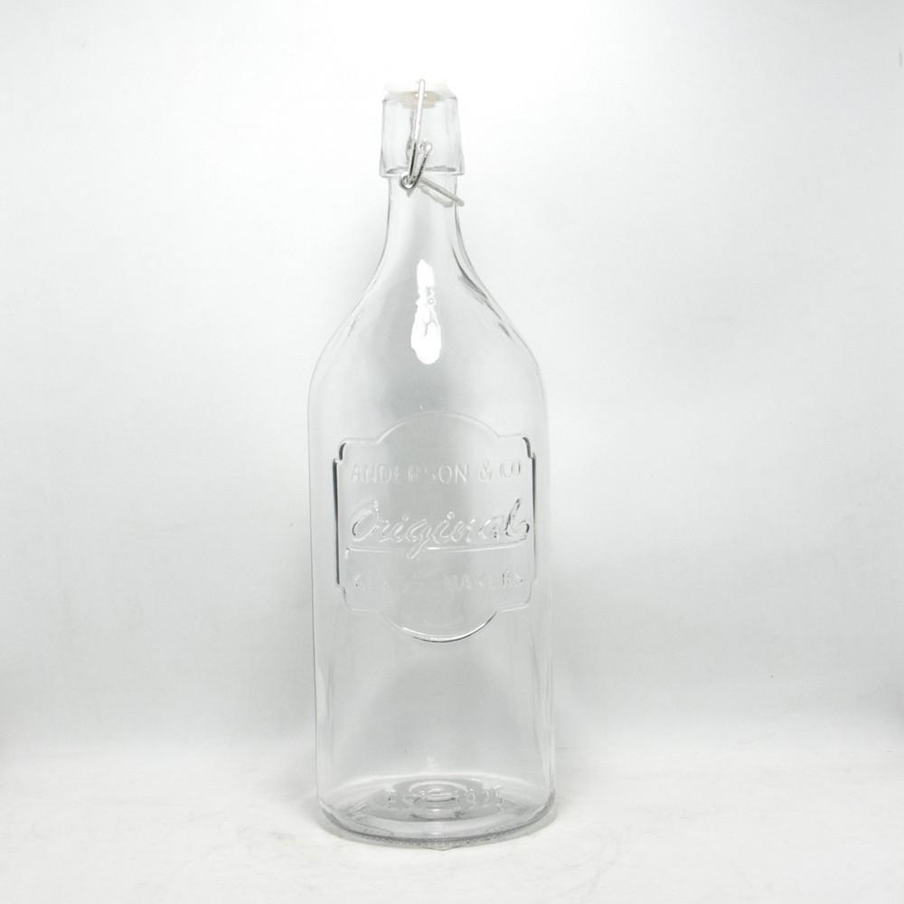 Botella Vidrio C/Tapon Hermetico