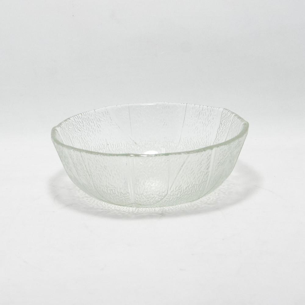 Compotera de vidrio labrado 11cm transparente