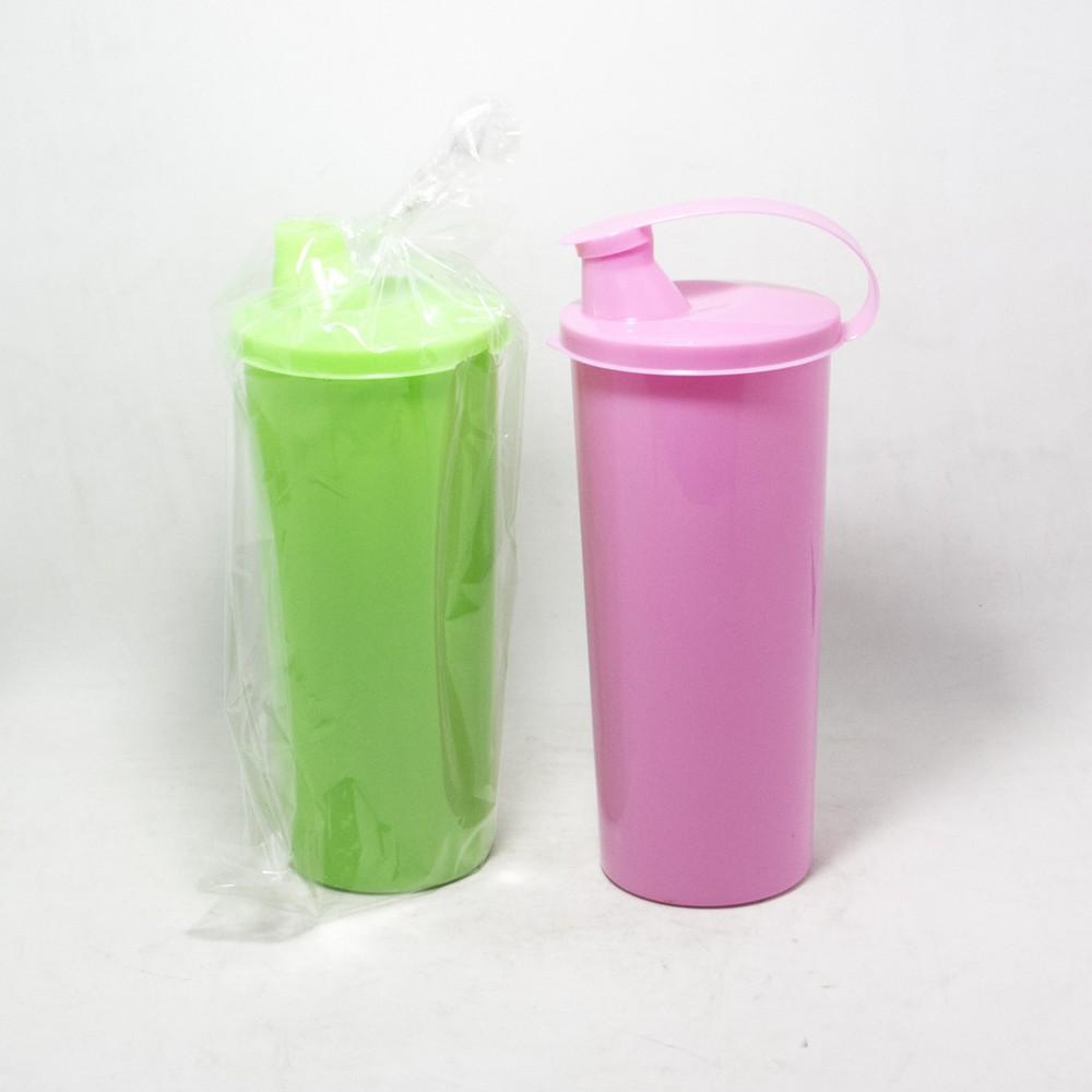 Vaso plastico T/Largo C/Tapon V/Colores 400ml