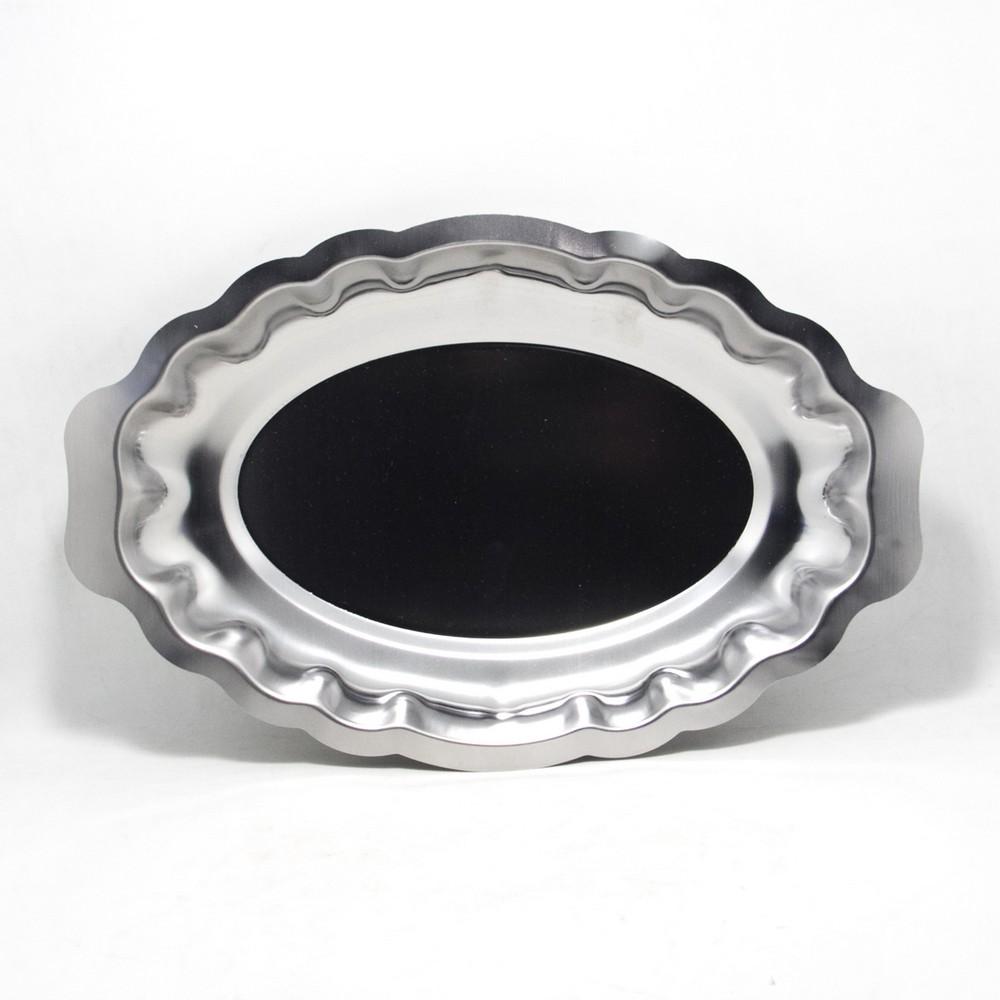 Bandeja oval acero 33x22cm