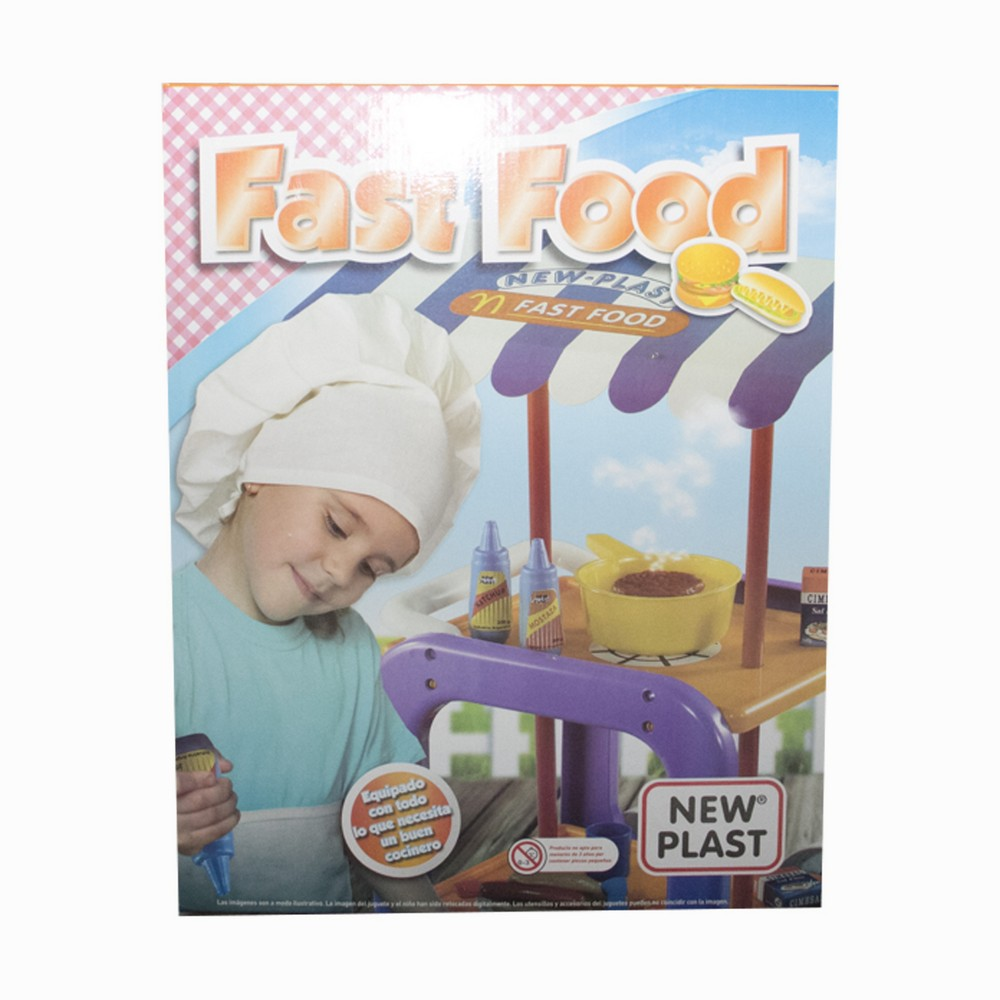 Carrito fast food con accesorios