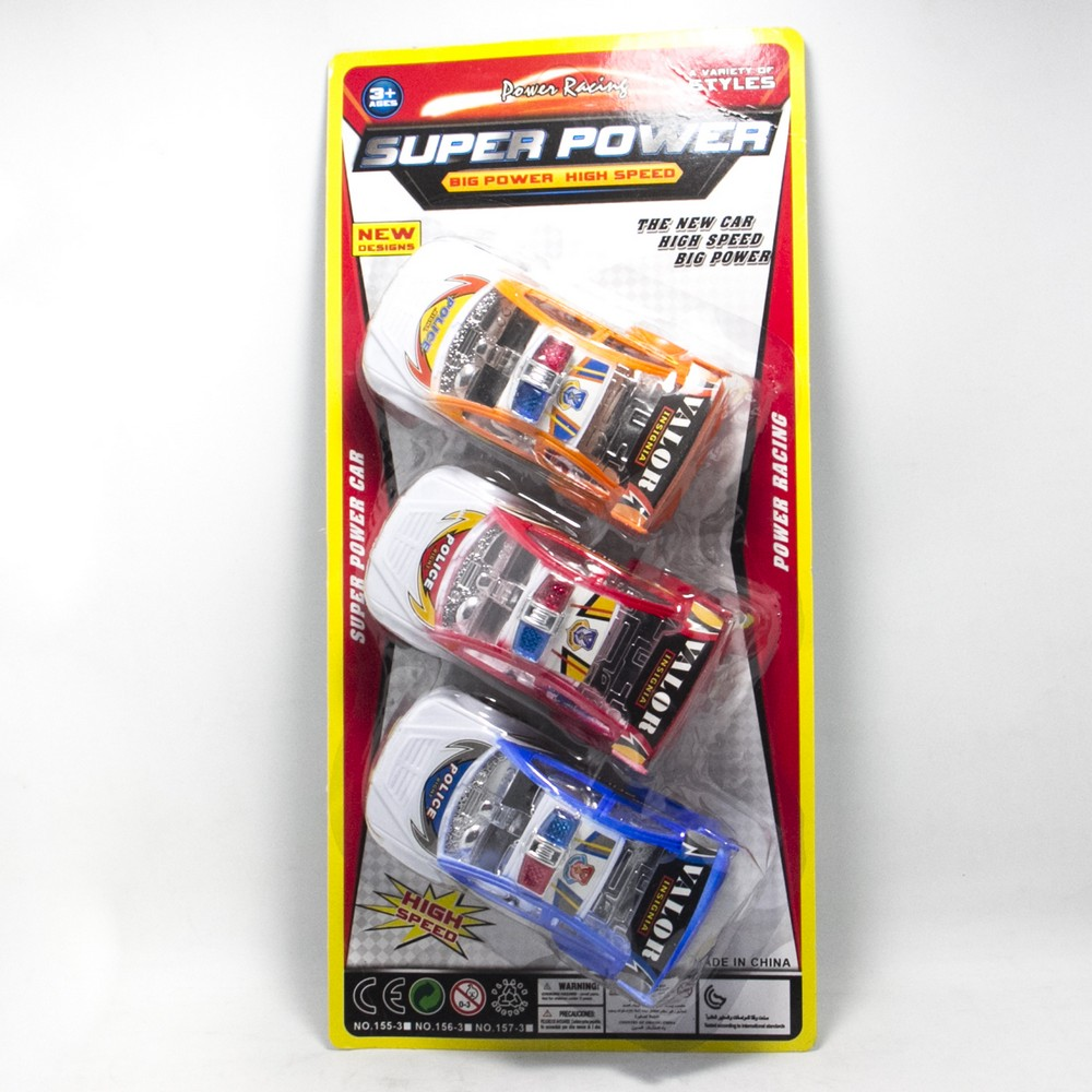 Set Autos Policia x3 Fricc Blister