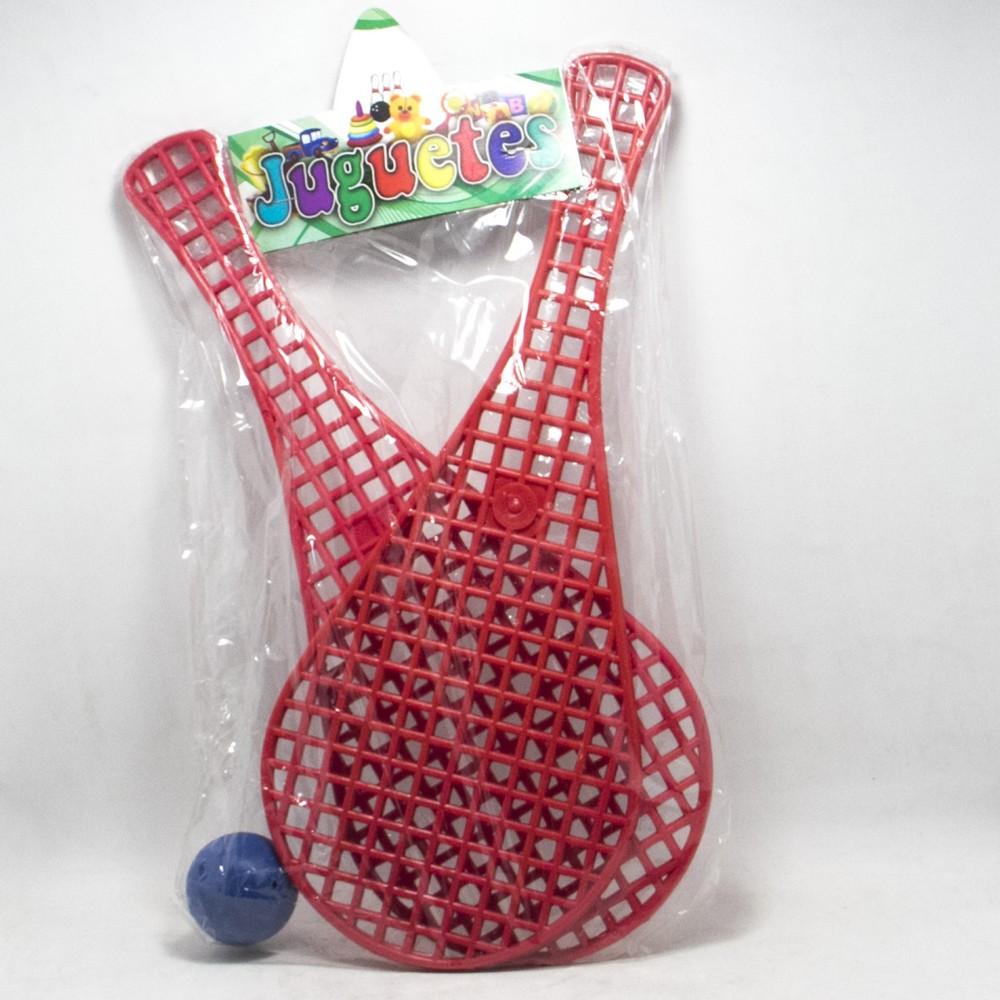 Set paletas x2 Plasticas+pelotita E/Bolsa