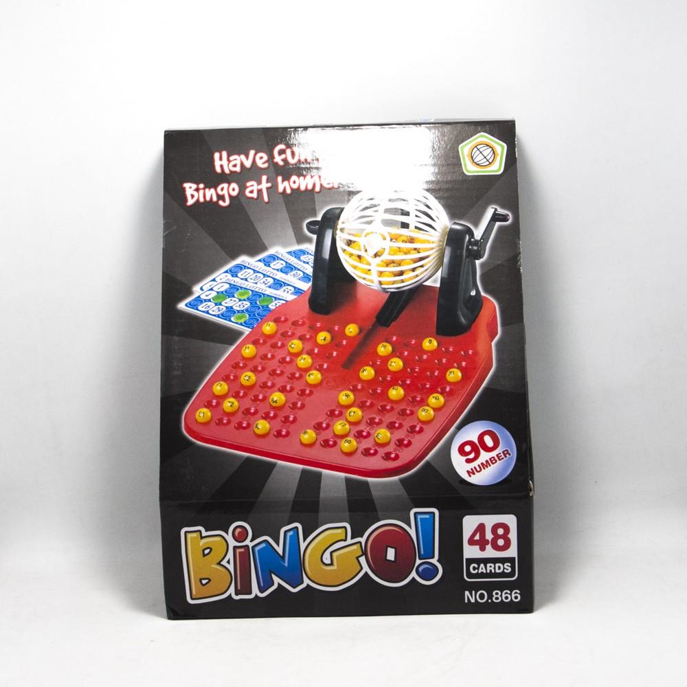 Juego Bingo C/Bolillero E/Caja 48 cartones y 90 bolillas
