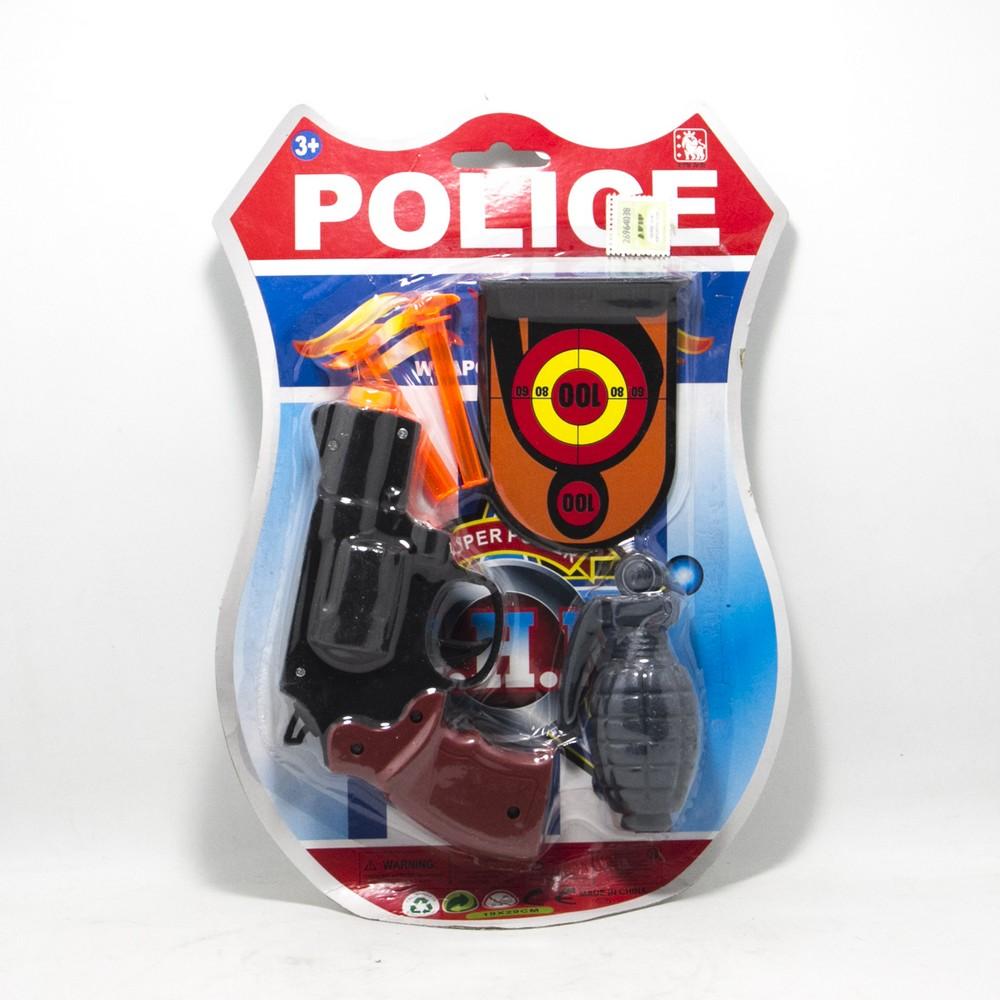 Set Policia C/Accesorios Mediano Blister