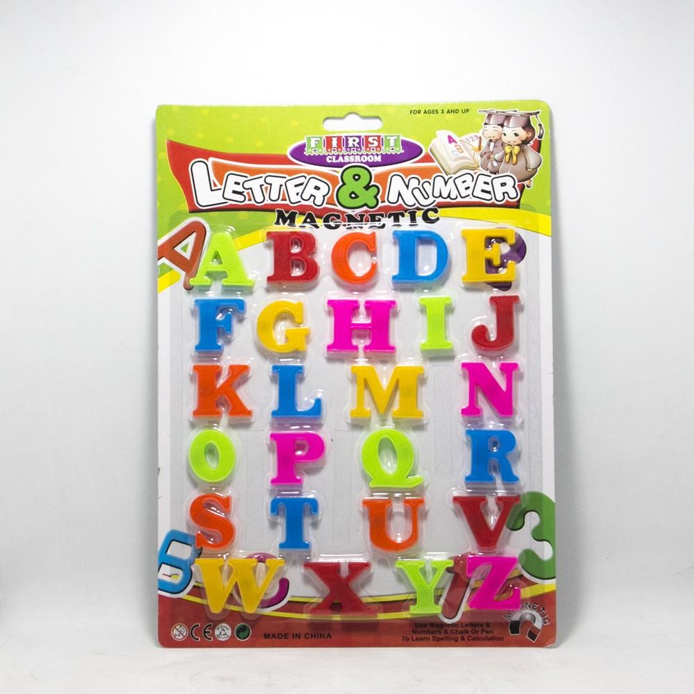Set Letras y Numeros C/Iman Blister