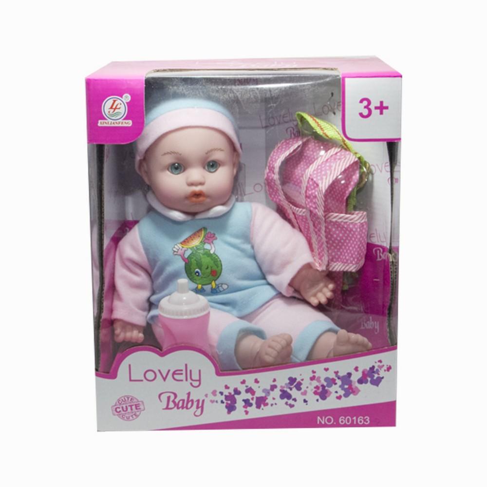 Muñeco mas mochila en caja