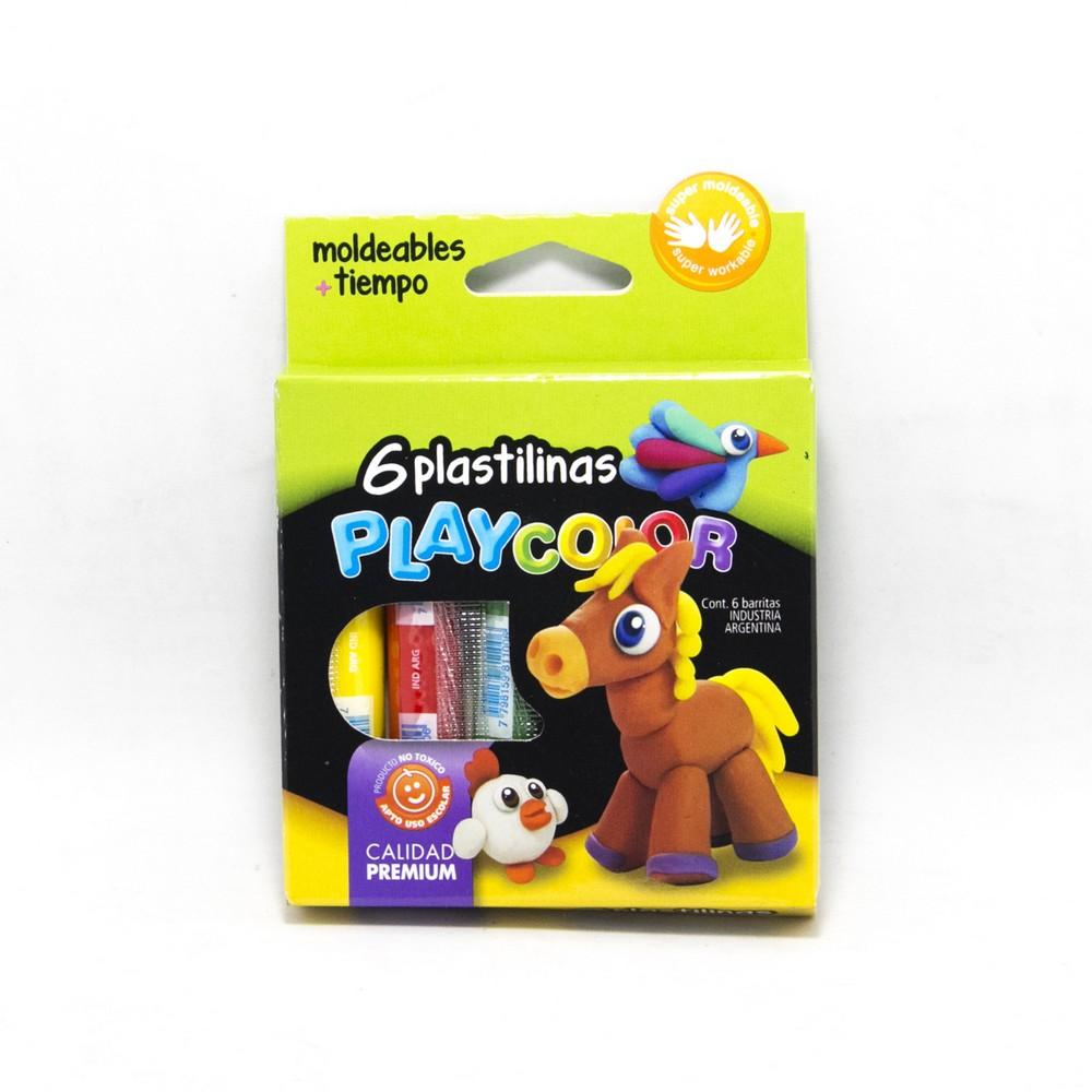 Playcolor plastilina x6u