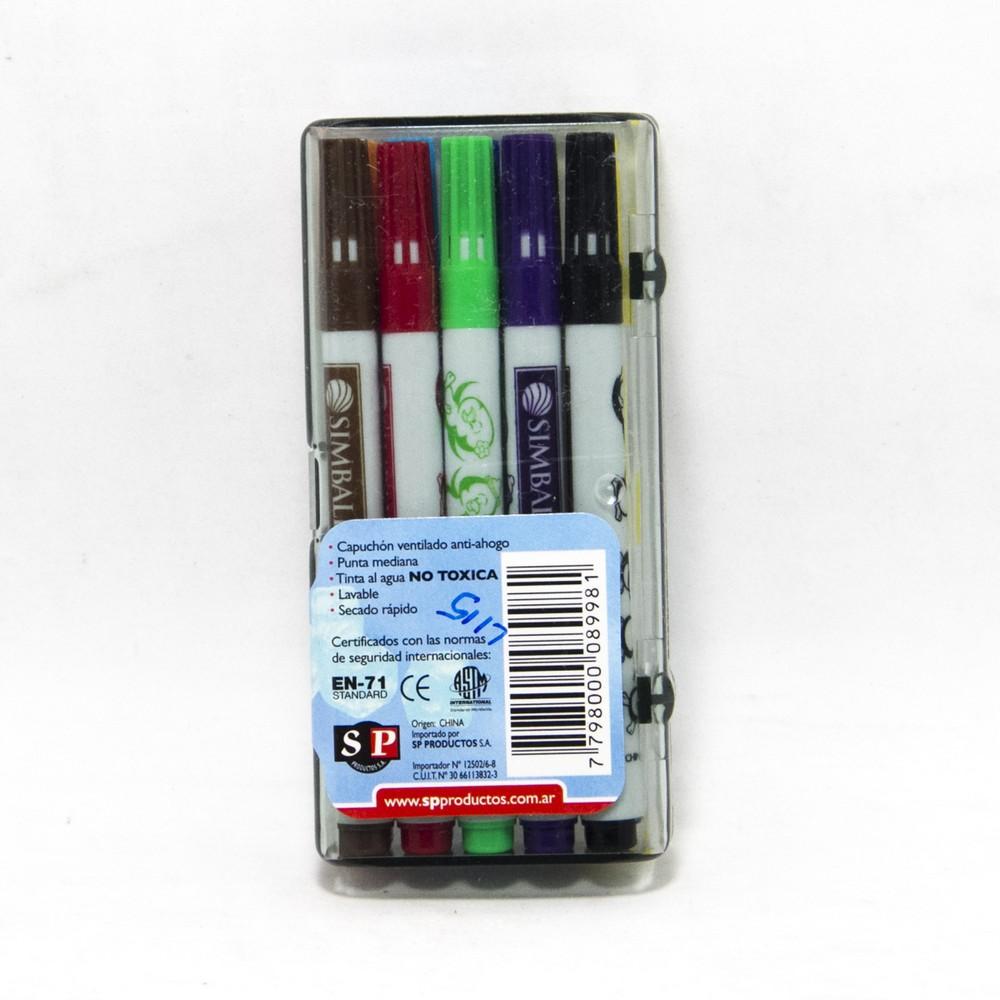 Micro marcador corto x10 caja acrilica