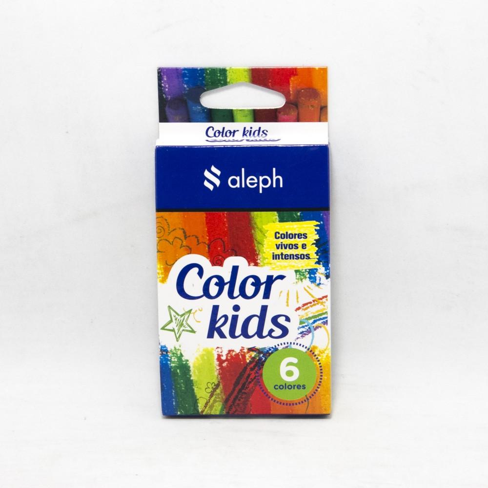 Crayones x6 colores en caja kids