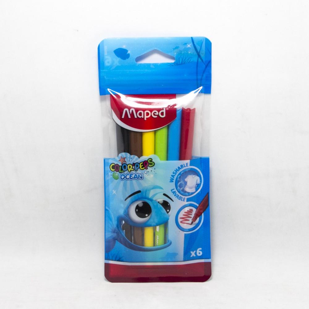 Fibras x6 colores en bolsa maped