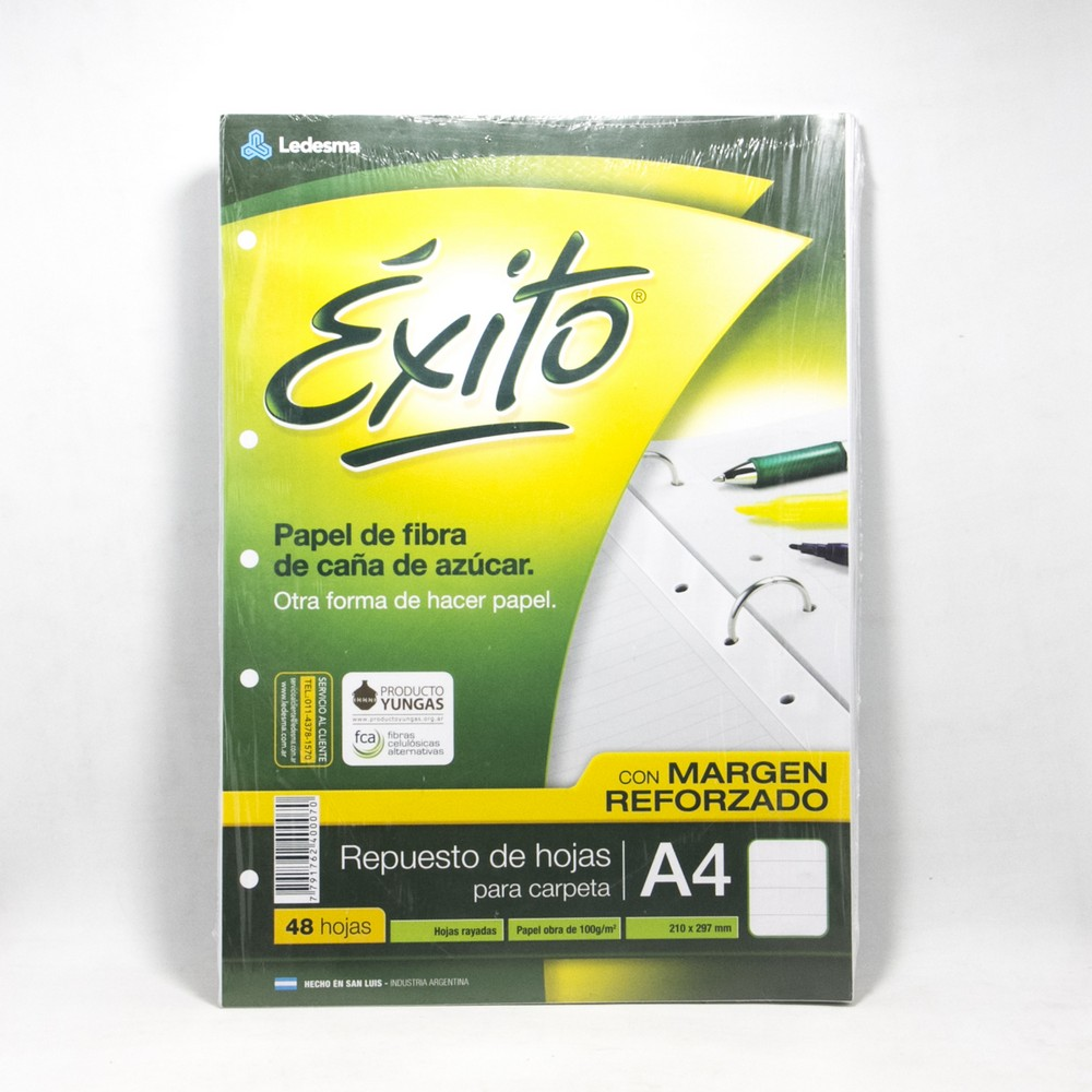 Repuesto A4 Exito X 48 HJS Rayado reforzado