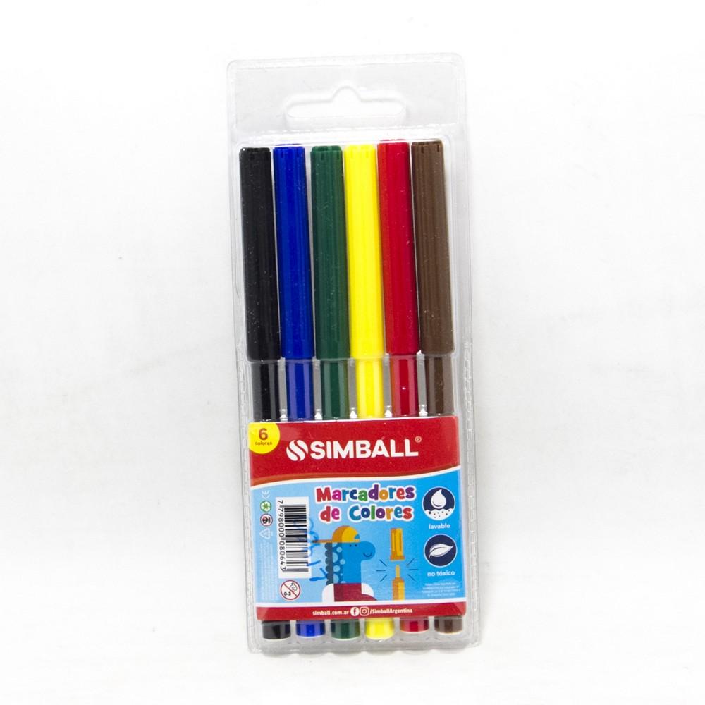 Marcadores x6 colores micro