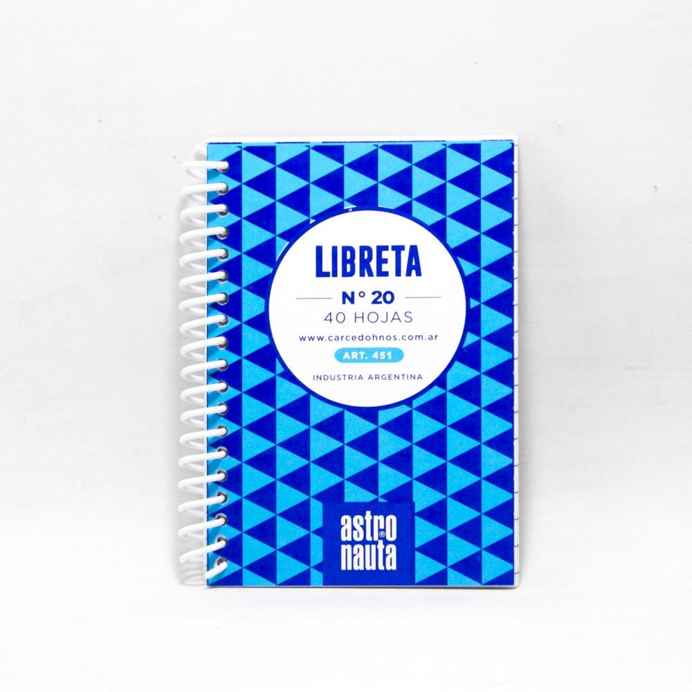 Libreta c/espiral 40HJS N20