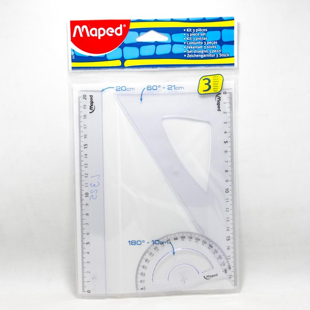 Set geometria 3 piezas 20 cm Maped