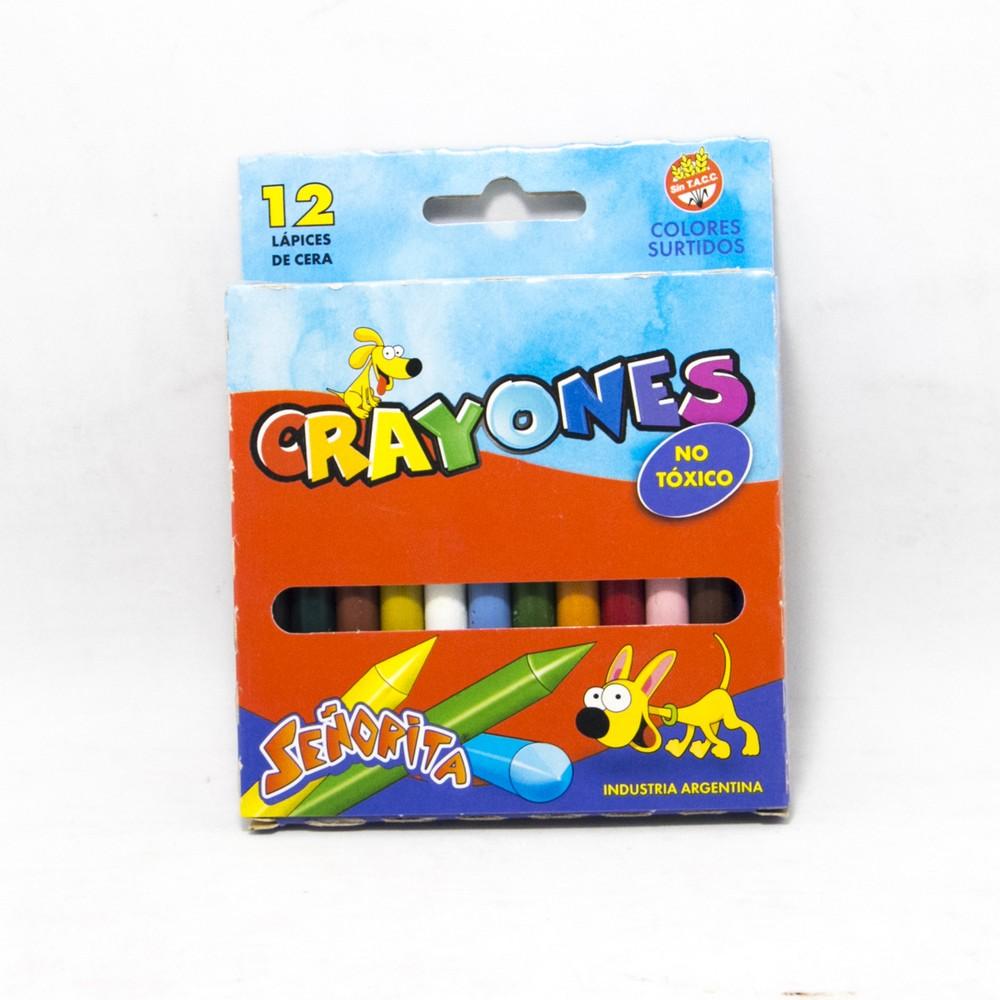 Crayon x12 colores señorita