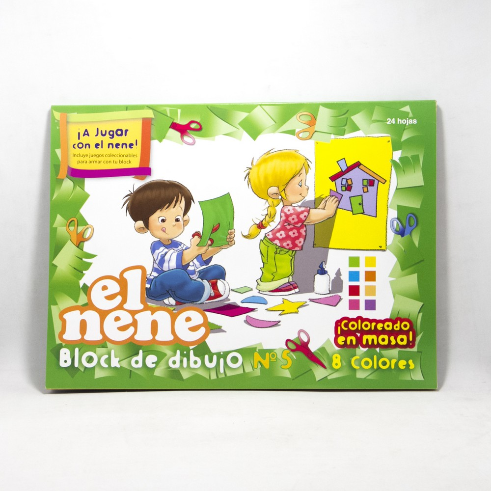 Block dibujo N5  X 24HJS color el nene