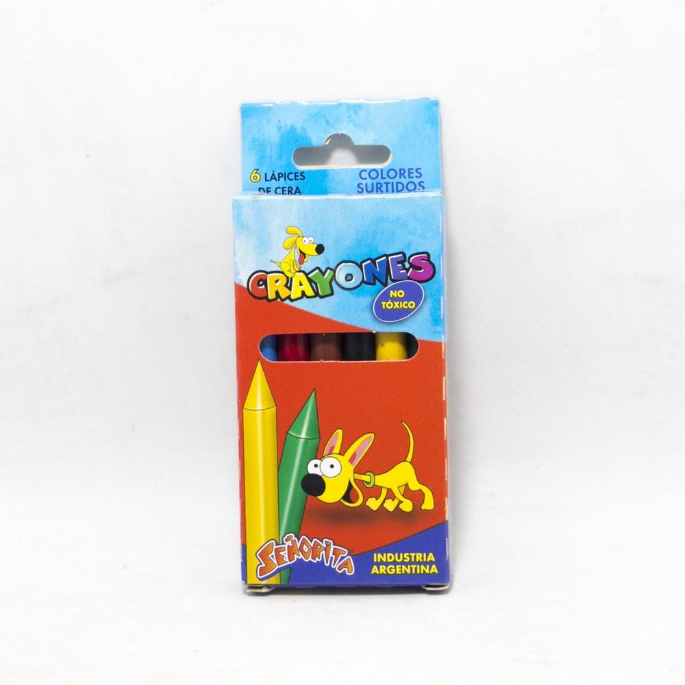 Crayon x6 colores señorita