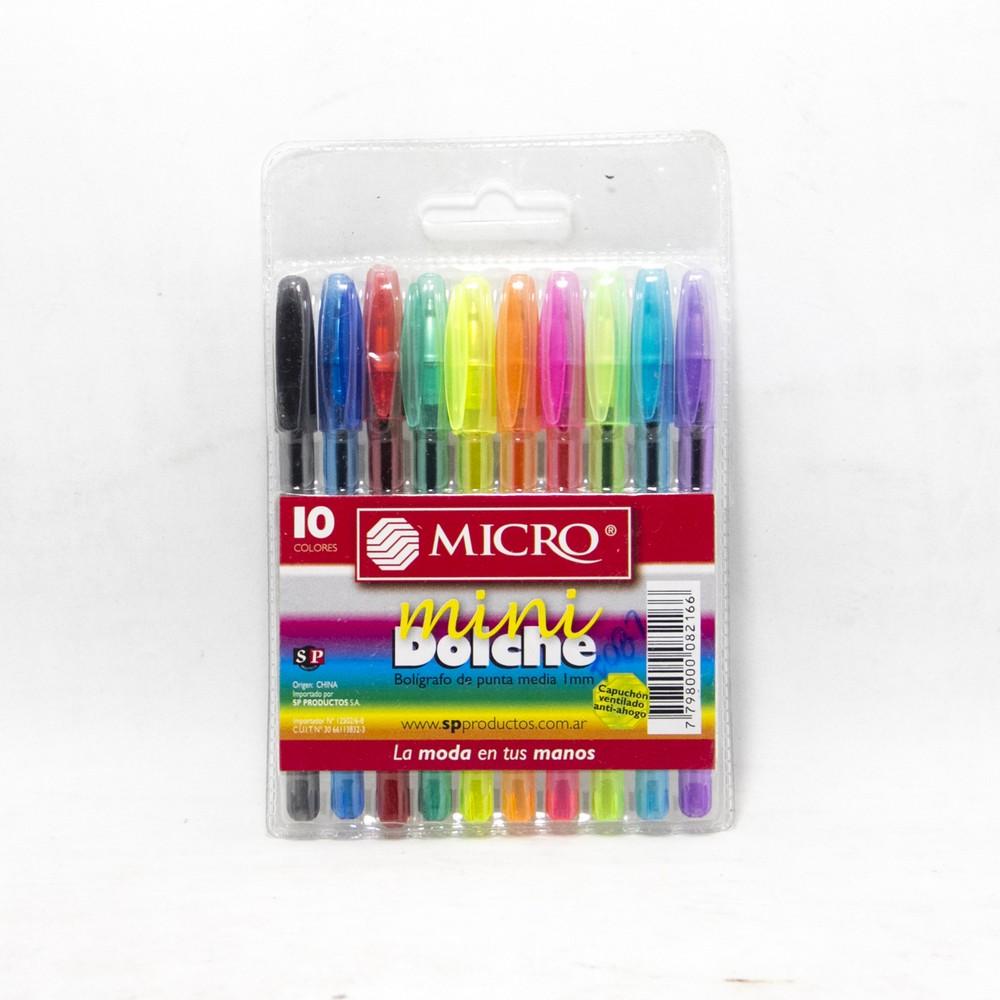 Micro birome x10 colores