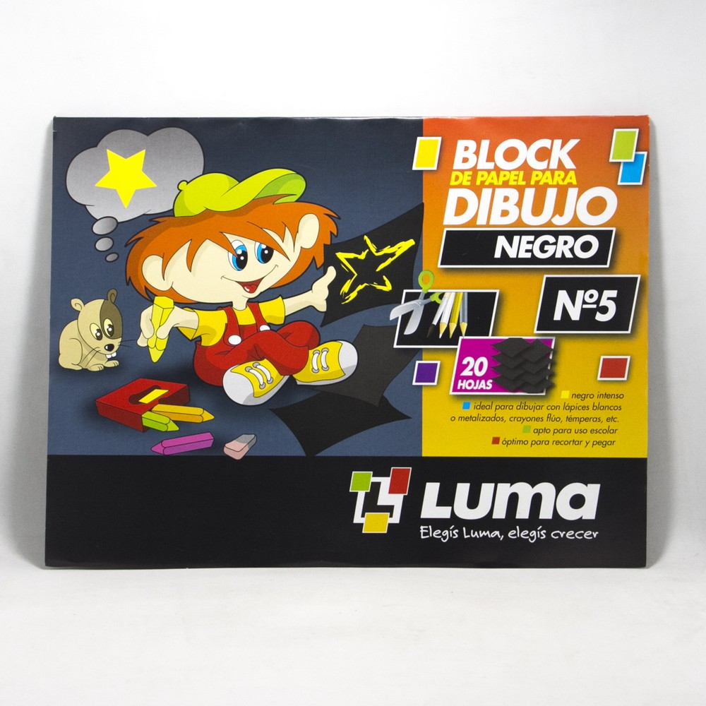 Block canson N5 X20HJS Negro Luma