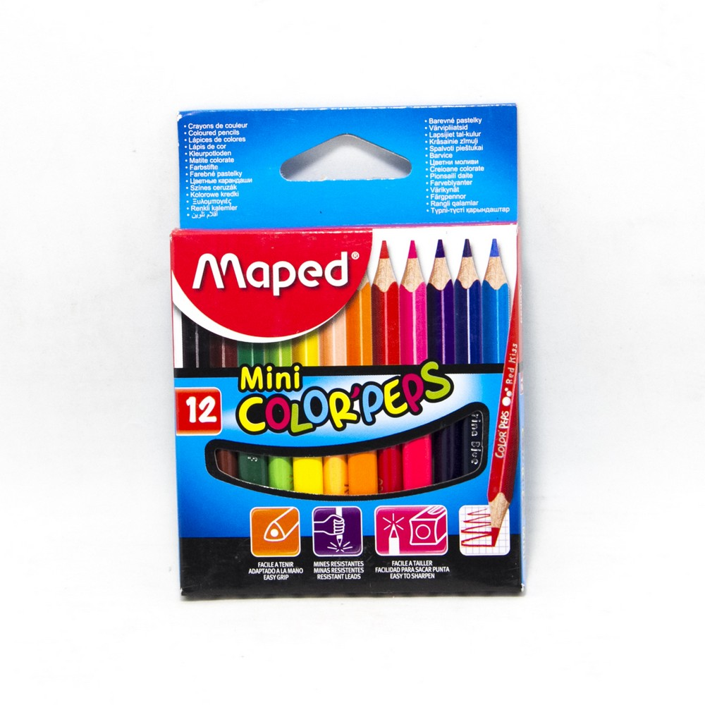 Lapices x12 colores cortos maped
