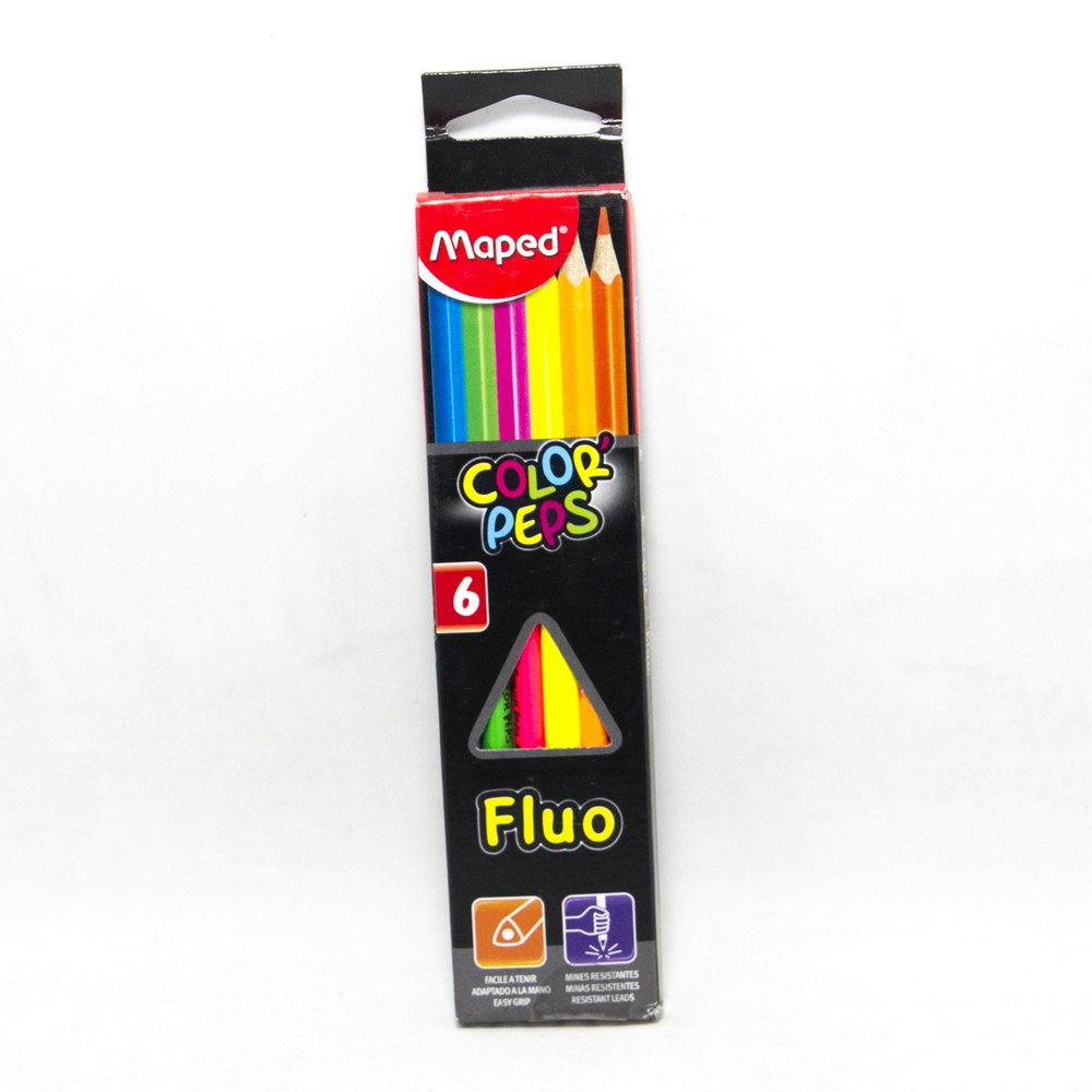 Lapices x6 fluo maped