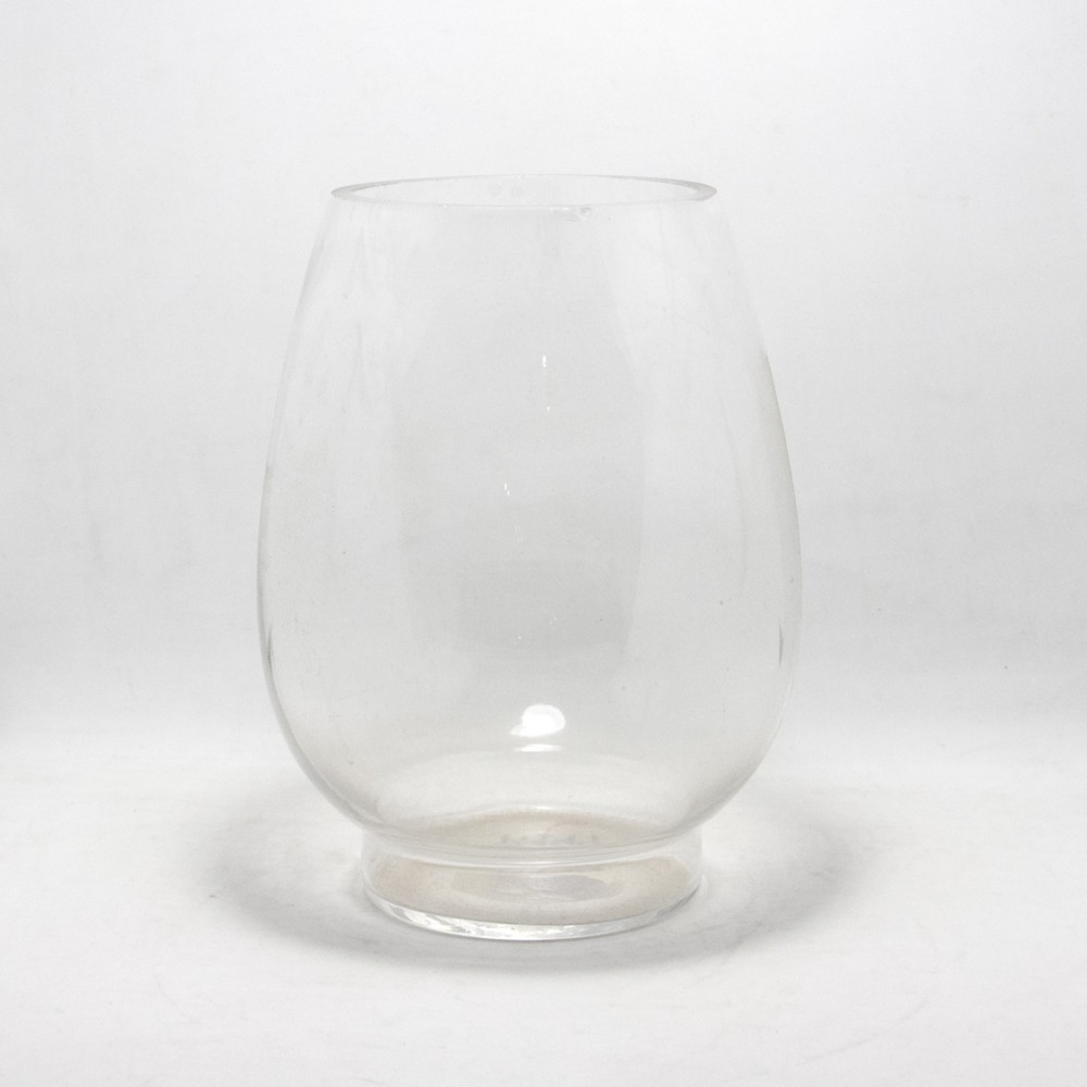 Florero gordo 20cm vidrio grueso