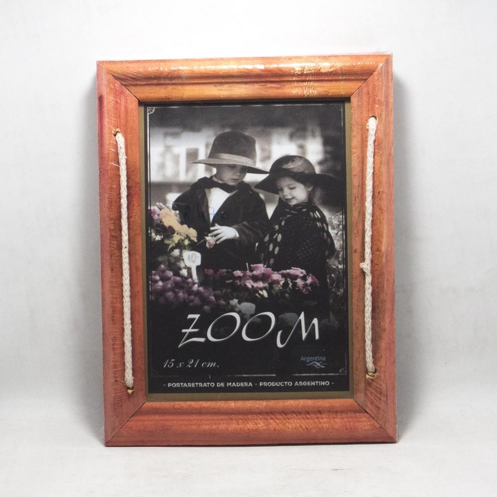 Portarretrato madera doble 15x21