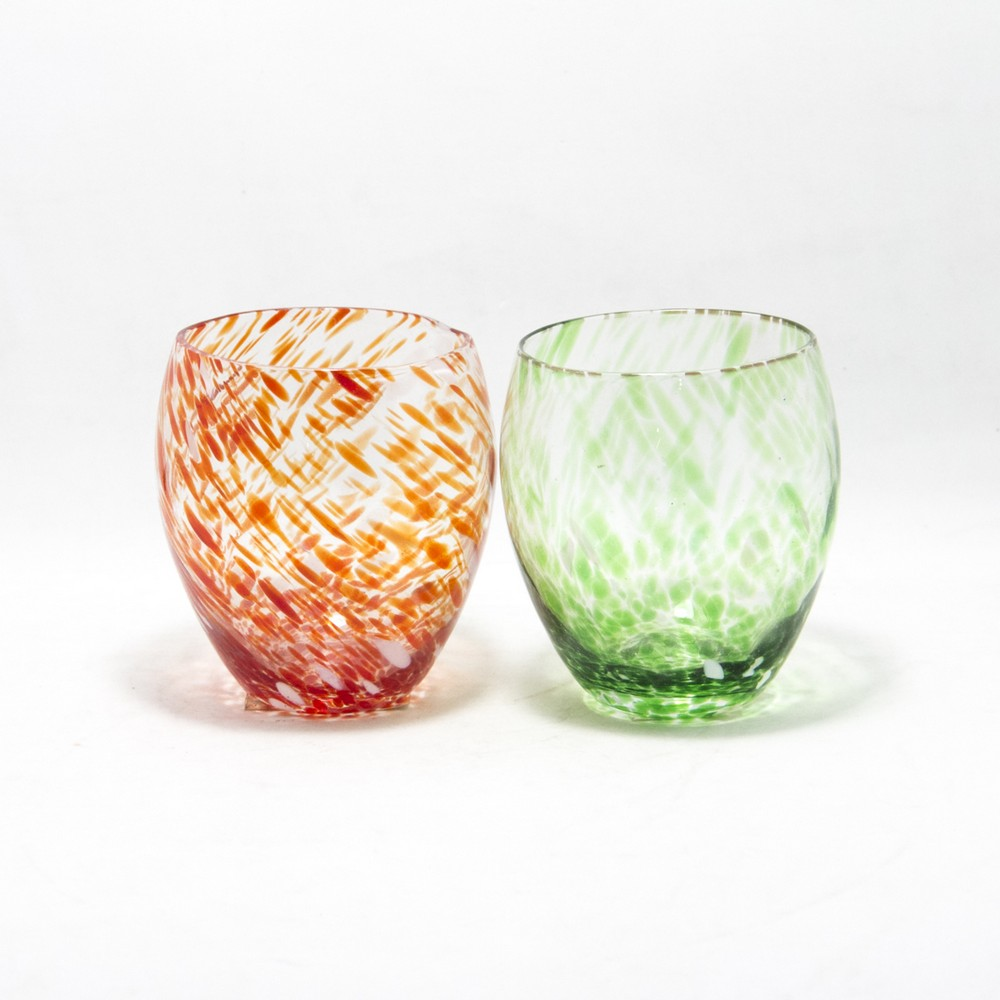 Florero/Porta vela vidrio V/Colores