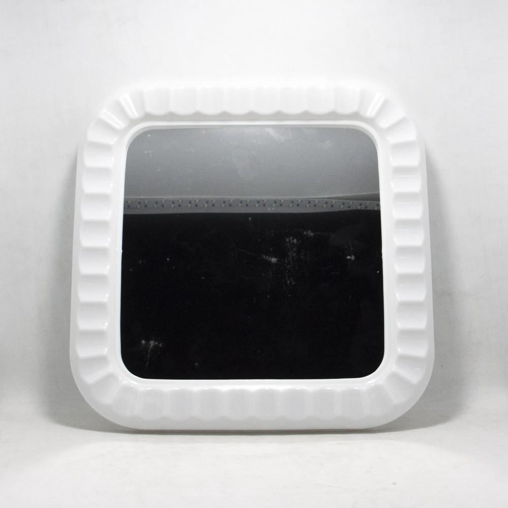 Espejo cuadrado marco plastico
