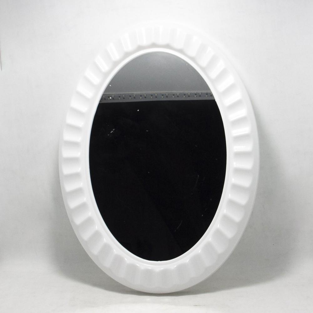 Espejo ovalado marco plastico