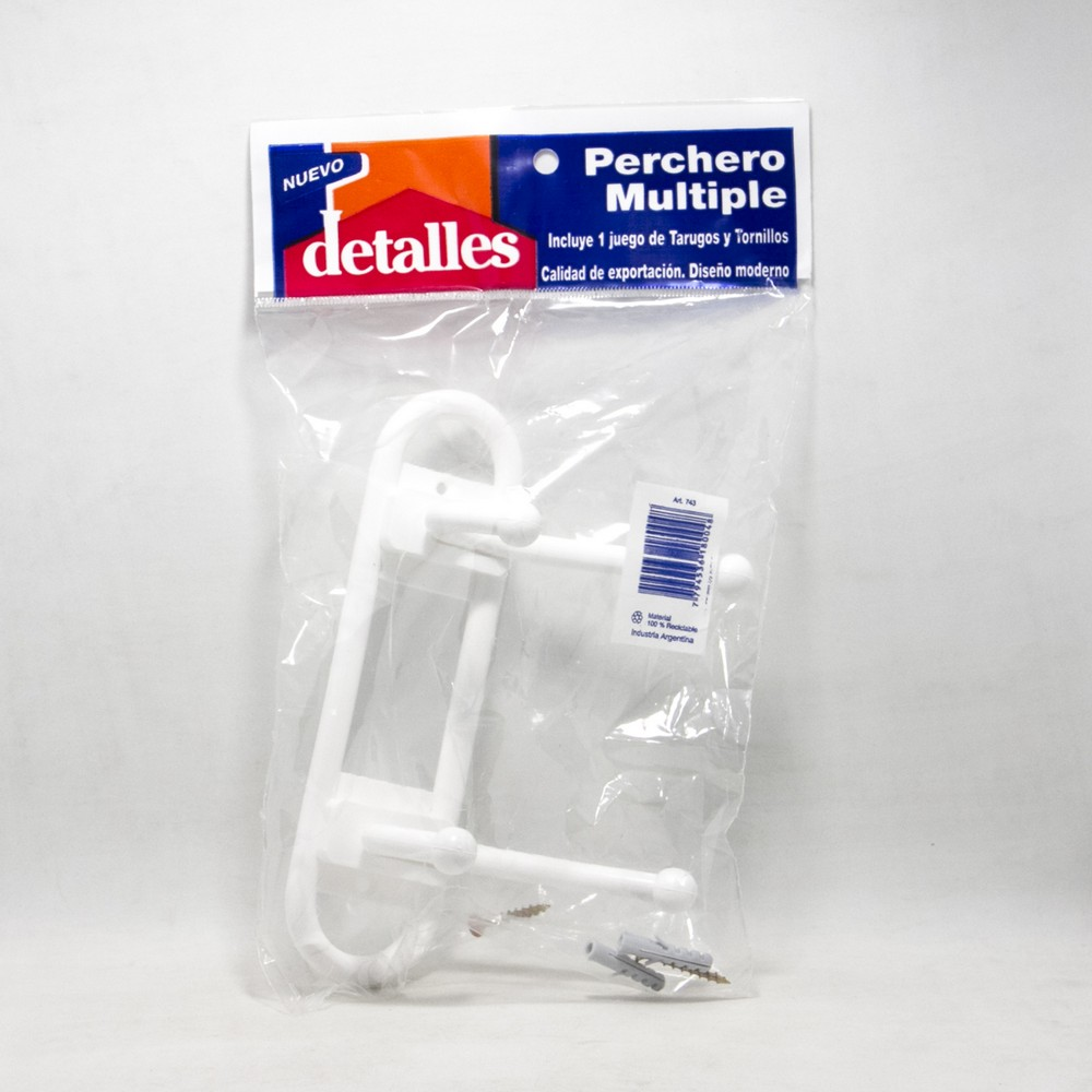 Perchero X2 plastico