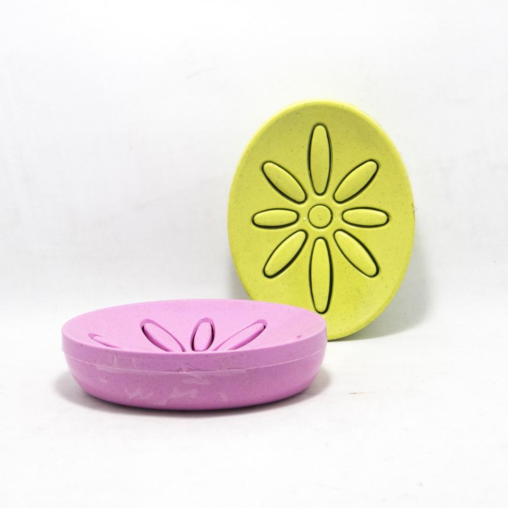 Jabonera plastica f/flor varios colores